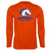 Performance Orange Longsleeve Shirt-Primary Mark