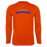 Performance Orange Longsleeve Shirt-UTA Mavericks stacked
