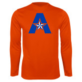 Performance Orange Longsleeve Shirt-A with Star