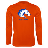Performance Orange Longsleeve Shirt-Softball