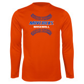 Performance Orange Longsleeve Shirt-Baseball Seams