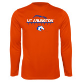 Performance Orange Longsleeve Shirt-Baseball Seams on Top