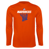 Performance Orange Longsleeve Shirt-Basketball Hanging Net