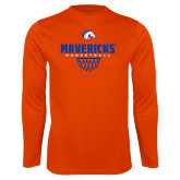 Performance Orange Longsleeve Shirt-Basketball Net