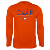 Performance Orange Longsleeve Shirt-Golf Hole