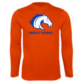 Performance Orange Longsleeve Shirt-Mens Tennis