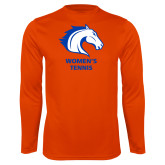 Performance Orange Longsleeve Shirt-Womens Tennis