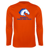 Performance Orange Longsleeve Shirt-Womens Track and Field