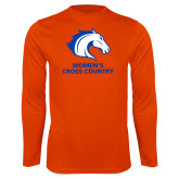 Performance Orange Longsleeve Shirt-Womens Cross Country