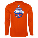 Performance Orange Longsleeve Shirt-Movin Mavs NWBA National Champions