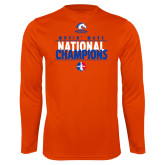 Performance Orange Longsleeve Shirt-Movin Mavs National Champions