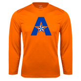 Syntrel Performance Orange Longsleeve Shirt-A with Star