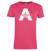 Ladies Fuchsia T Shirt-A with Star