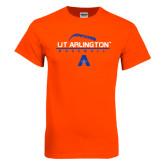Orange T Shirt-Baseball Laces on Top