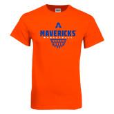 Orange T Shirt-Basketball Geo Net