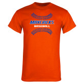 Orange T Shirt-Baseball Seams