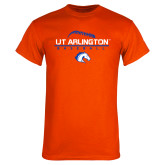 Orange T Shirt-Baseball Seams on Top