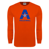 Orange Long Sleeve T Shirt-Volleyball