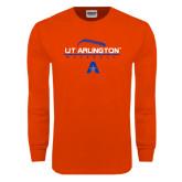 Orange Long Sleeve T Shirt-Baseball Laces on Top
