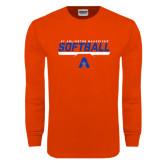 Orange Long Sleeve T Shirt-Softball Shelf