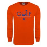 Orange Long Sleeve T Shirt-Golf Flag