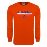Orange Long Sleeve T Shirt-Volleyball Shelf