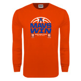 Orange Long Sleeve T Shirt-Mavs Win