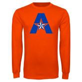 Orange Long Sleeve T Shirt-A with Star