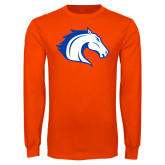 Orange Long Sleeve T Shirt-Horse Head