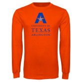 Orange Long Sleeve T Shirt-University of Texas Arlington Stacked