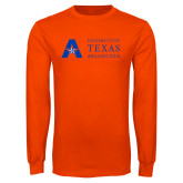 Orange Long Sleeve T Shirt-University of Texas Arlington