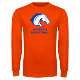 Orange Long Sleeve T Shirt-Mens Basketball