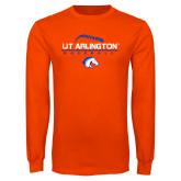 Orange Long Sleeve T Shirt-Baseball Seams on Top
