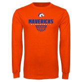 Orange Long Sleeve T Shirt-Basketball Net