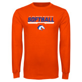Orange Long Sleeve T Shirt-Softball Shelf