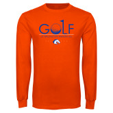 Orange Long Sleeve T Shirt-Golf Hole