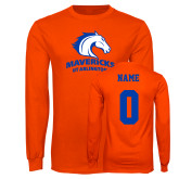 Orange Long Sleeve T Shirt-Primary Mark, Custom Tee w/ Name and #
