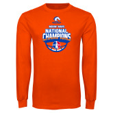 Orange Long Sleeve T Shirt-Movin Mavs NWBA National Champions