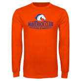 Orange Long Sleeve T Shirt-Maverick Club