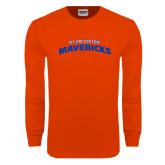 Orange Long Sleeve T Shirt-UT Arlington Mavericks