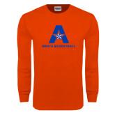 Orange Long Sleeve T Shirt-Mens Basketball