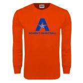 Orange Long Sleeve T Shirt-Womens Basketball
