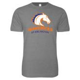 Next Level SoftStyle Heather Grey T Shirt-Primary Mark