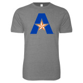 Next Level SoftStyle Heather Grey T Shirt-A with Star
