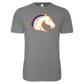 Next Level SoftStyle Heather Grey T Shirt-Horse Head