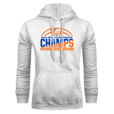 White Fleece Hood-2017 Mens Basketball Champions Stacked Baketball