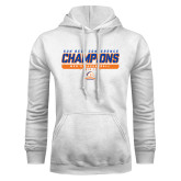 White Fleece Hood-2017 Mens Basketball Champions Stacked