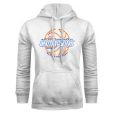 White Fleece Hood-2017 Mens Basketball Champions Basketball