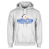 White Fleece Hoodie-Maverick Club