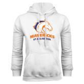White Fleece Hood-Mavericks